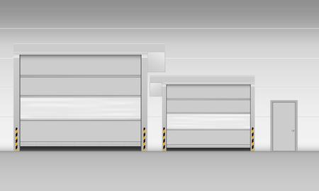 High speed PVC rolling door Stock Illustratie