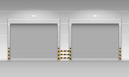 High speed rolling door, Shutter door Vector Illustration. Banque d'images - 99017368