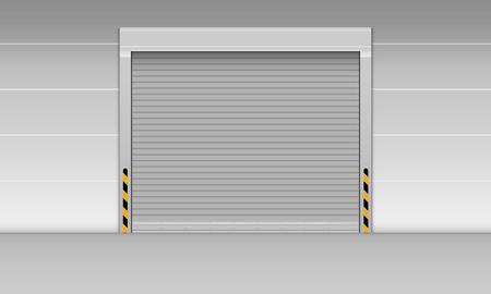 High speed rolling door of storage warehouse., Shutter door, Vector, Illustration. Banque d'images - 101770140