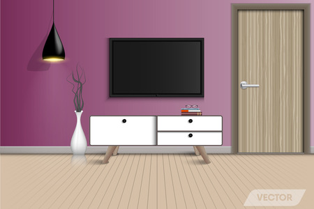 Living room interior design and decorative., Vector, Illustration
