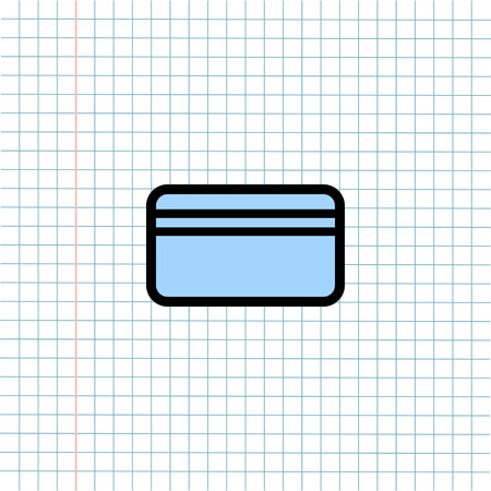 Credit Card Symbol Icon on Paper Note Background, Media Icon for Technology Communication and Business E-Commerce Concept. Vector, Illustration