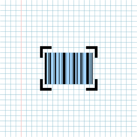 Barcode Products Price Symbol Icon on Paper Note Background, Media Icon for Technology Communication and Business E-Commerce Concept. Vector, Illustration Banque d'images - 123254787