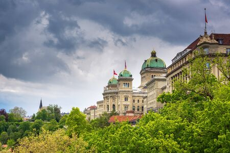 Cityscape and Historical Architecture of Bern, Switzerland., Capital City Landscape Scenery and Travel Destination in Swiss, Histrory Building and Landmark. European Traditional of Architectural.