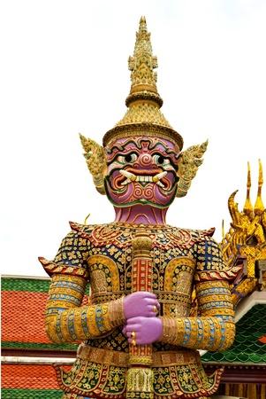 wat: The legend giant stands in the Wat phra kaew, Bangkok Thailand