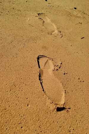 shoeprint: footprint on the sand