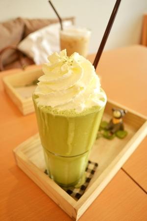 refreshment: Smoothies Green tea refreshment Stock Photo