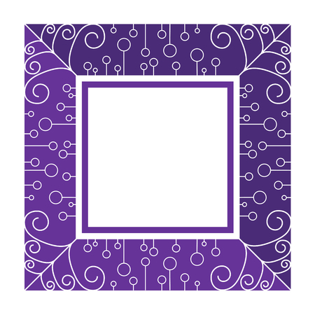 curve line: abstract purple frame by line and curve