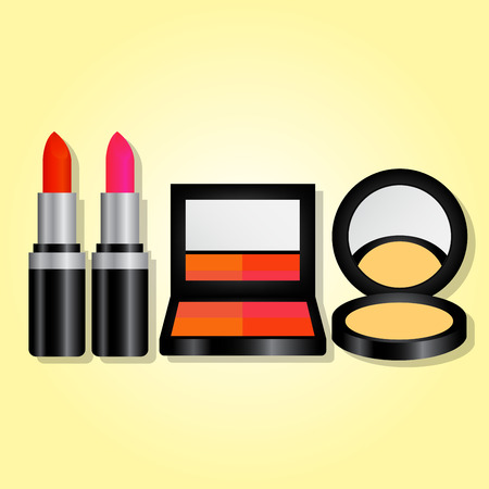 color cosmetic set for advertisement