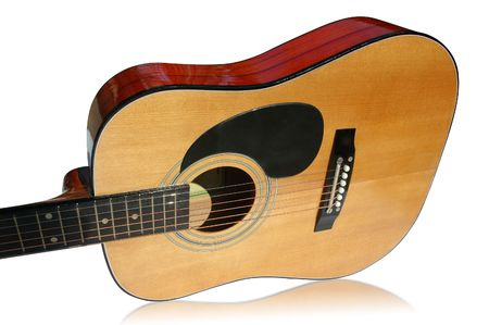 Guitar on a white background with clipping path Stock Photo