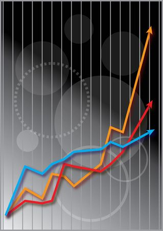 Graph showing share market performance