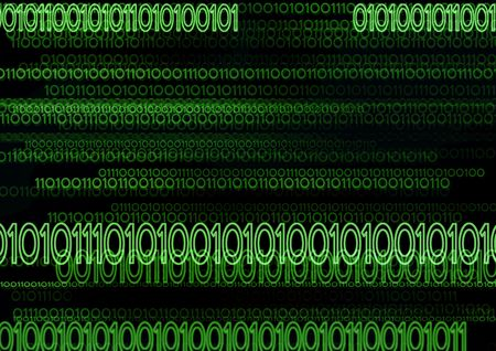 Computer generated digital binary code in green Stock Photo - 833657