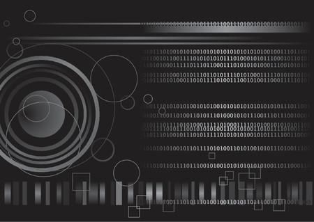 Technologie numérique produite par ordinateur de code binaire