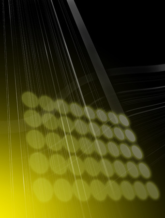 Computer generated illustration of spotlight and lineswith noisy background