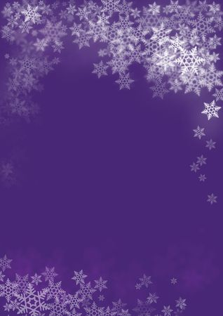 White Merry Christmas with snowflakes scattered in random