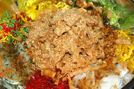 A special dish during Chinese New Year called Yusheng or Yee Sang photo