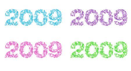 Typography of new year 2009 celebration photo