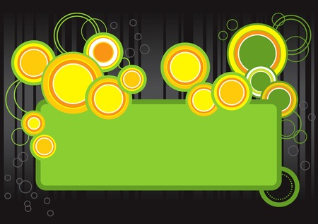Vector illustration of retro bright and lively bubbles Vector