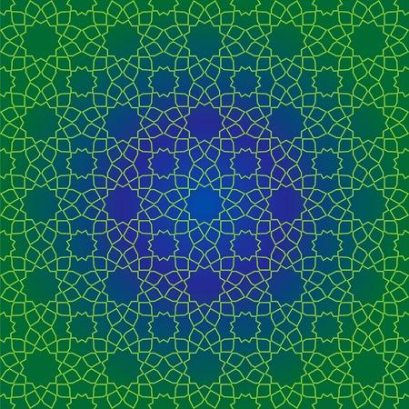 Vector seamless design of traditional Islamic geometric pattern