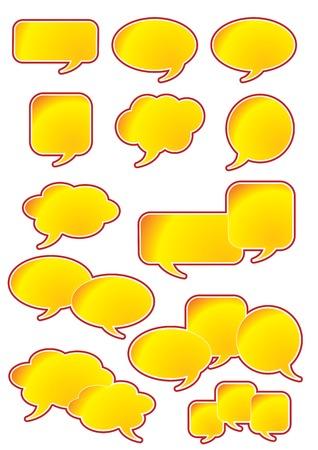 converse: Vektor-Illustrationen der verschiedenen Formen der Sprechblasen Illustration