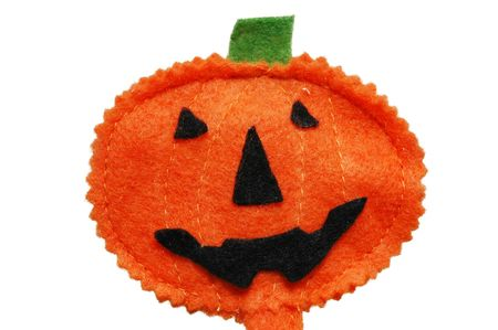 Halloween pumpkin Jack O-lantern isolated on white background Stock Photo
