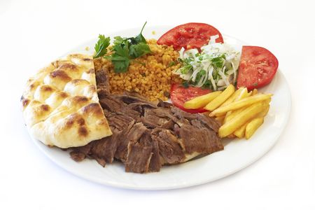 Doner (turkish traditional food) Stock Photo