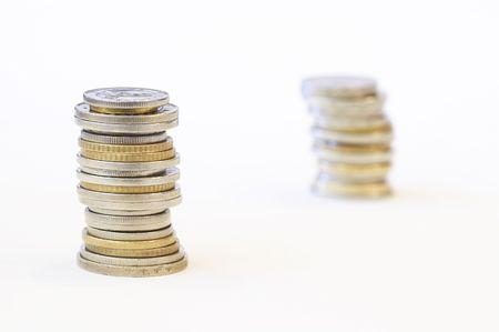 coinage: coins, shallow dof