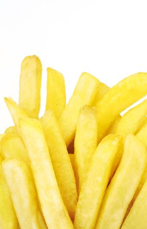 paperbag: french fries close up