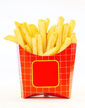 paperbag: french fries Stock Photo