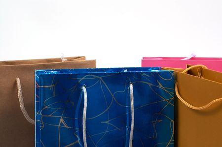 gift spending: colorful shopping bags