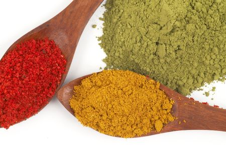 preperation: colorful spices close up Stock Photo