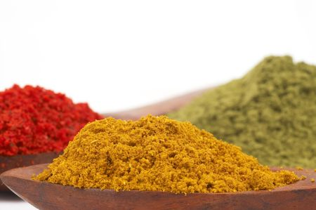 preperation: colorful spices, space for messages