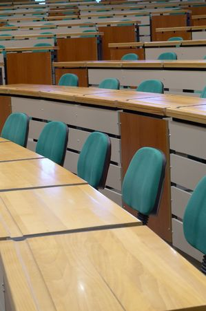 casually: lecture room Stock Photo