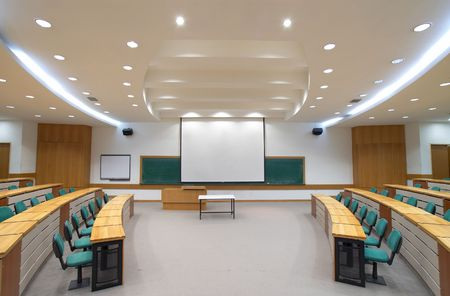 lecture room Stock Photo