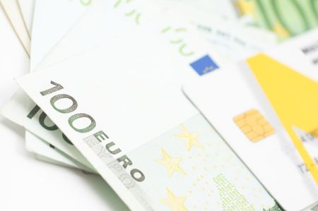 euro currency and credit card Stock Photo - 405741