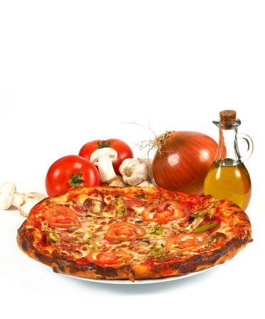 shallow dof: pizza, shallow dof Stock Photo