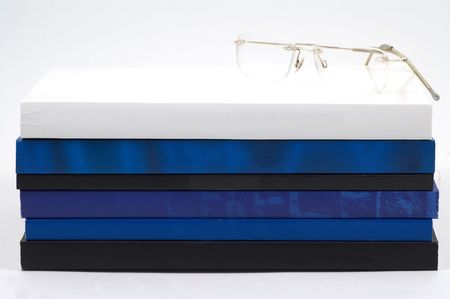 eyeglass on book Stock Photo - 405573