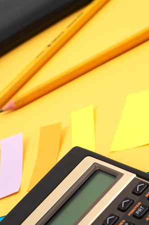 calculator and pencils photo
