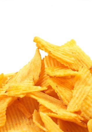 paperbag: chips close up