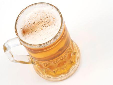 pilsner: Cerveza en blanco, el espacio para mensajes  Foto de archivo