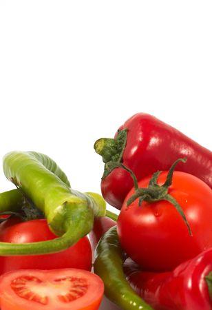 chiles secos: hortalizas de cerca