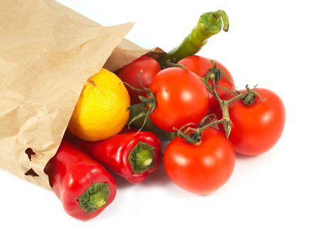 chiles secos: Verduras con bolsa de papel