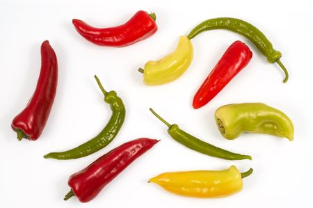 chiles secos: Peppers en blanco