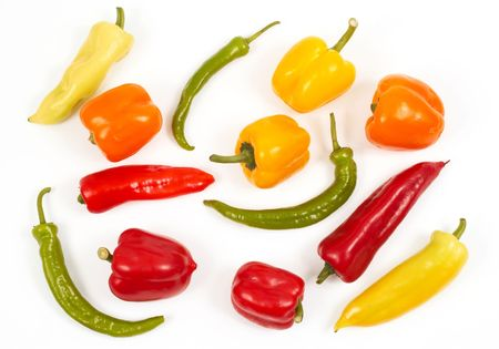 chiles secos: pimiento blanco