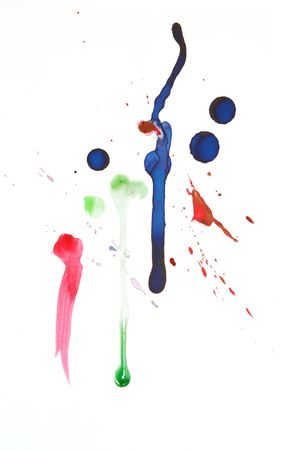 abstract background with colorful ink splats photo