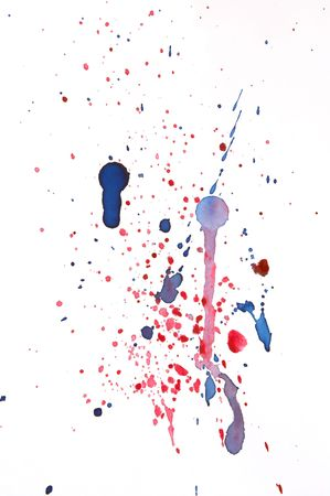 pallette: abstract background with colorful ink splats