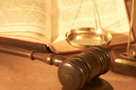 gavel and book close up, shallow dof Stock Photo - 772936
