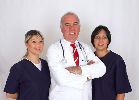 team of doctors with stethoscope