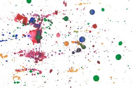 colorful ink splats on white