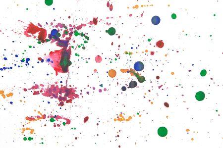 pallette: ic�nes de couleurs d'encre sur blanc