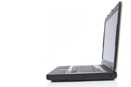 laptop close up on white background, space for messages Stock Photo - 893005